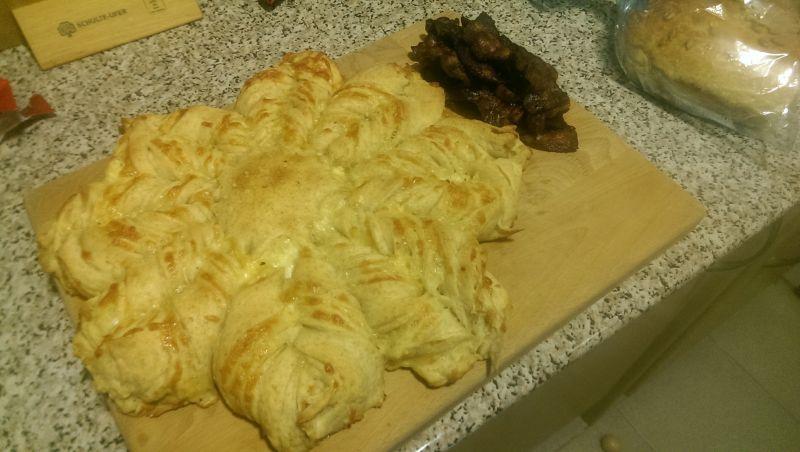 Stjernebrød med ost og hvidløg