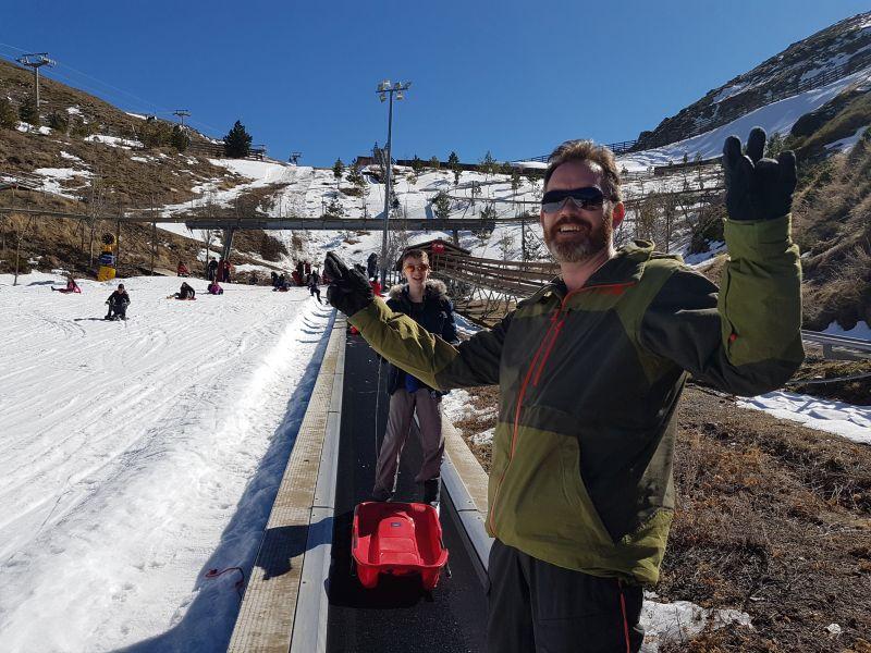 Sjov kælkebakke på Sierra Nevada